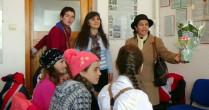 Vizită şi donaţie de bani şi alimente din Vorniceni la Botoşani